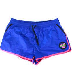 Versace Beachwear - Swim Shorts - Short Blue with Neon Pink & Logo - XL 7