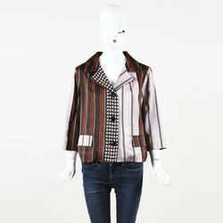 Marni NWOT Mixed Print Silk Blazer SZ 44