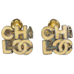 Chanel 00T Beige CC Earrings 8ccs17
