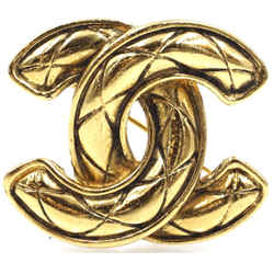 Chanel Gold Cc Quilted Hardware Brooch