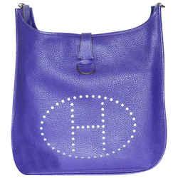 Hermes Evelyne Iii Gm 2010 Entrupy Purple Leather Shoulder Bag
