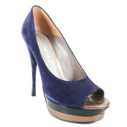 Versace - Purple Suede Pump Heels - Gold Black Design - Us 10 - 40