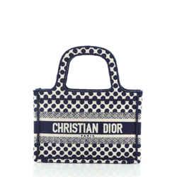 Dior Book Tote Dots Embroidered Canvas Mini