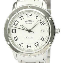 Polished HERMES Clipper Classic Steel Automatic Mens Watch CP2.810 BF527446