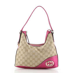 New Britt Zip Hobo GG Canvas Small