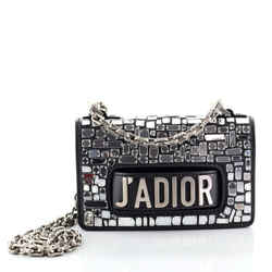 J'Adior Flap Bag Leather and Mirror Mosaic Mini
