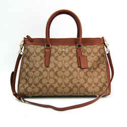 Coach Signature Morgan Satchel F34617 Women's Leather,PVC Handbag Light BF507644