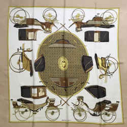 "Hermes ""Les Voitures A Transformation"" Square Silk Scarf 90 cm"