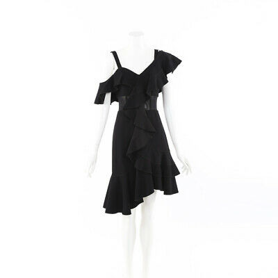 Proenza Schouler One Shoulder Ruffle Dress SZ 4