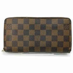 Louis Vuitton Damier Ebene Zippy Wallet Zip Around Continental 861735