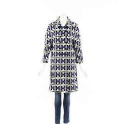 Oscar de la Renta Printed Woven Coat SZ 2
