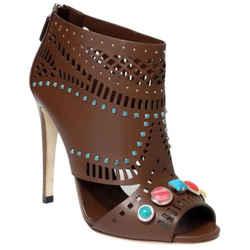 Nib $1,195 Gucci 371057 Women's Lika Laser-cut Leather Ankle Boot 38