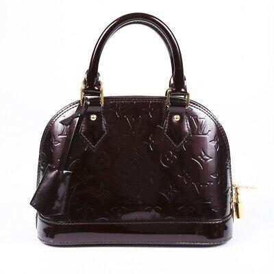 Louis Vuitton Alma Bb Monogram Vernis Satchel Bag Leprix