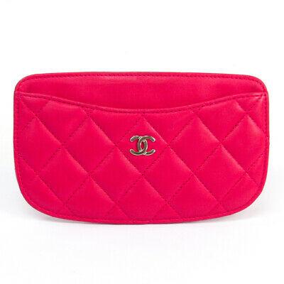 Chanel Mattasse Leather Card Case Pink BF515033