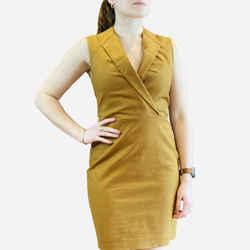 Tan Sleeveless Short Dress