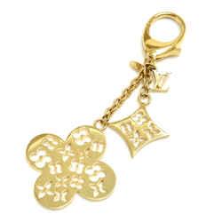 Louis Vuitton Gold-Tone Ivy Monogram Flower Keychain / Bag Charm LT505
