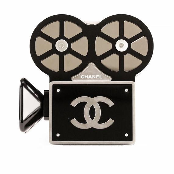 Chanel Minaudiere Camera Movie Limited Edition Black/Silver Plexiglass Shoulder Bag