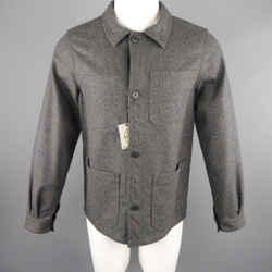 JC de CASTELBAJAC 38 Dark Gray Wool Blend Coat