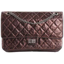 Chanel Reissue 2.55 Classic Double Flap Quilted Metallic 227 Bronze