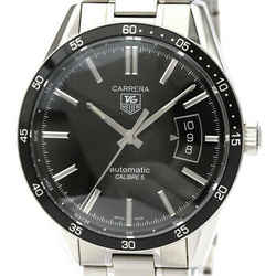 Polished TAG HEUER Carrera Calibre 5 Steel Automatic Mens Watch WV211M BF532695