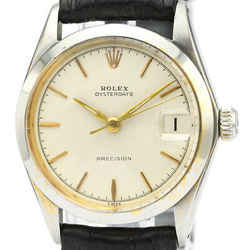 ROLEX Oyster Date Precision 6466 Steel Hand-Winding Mid Size Watch BF521175