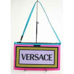 Versace Transparent Clutch With Logo