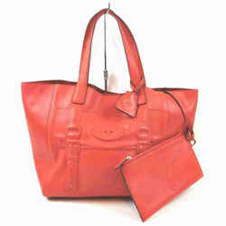 Mulberry Maisie Tote with Pouch Orange Leather 860372