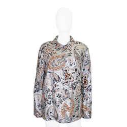Etro   Metallic Paisley Print Jacket