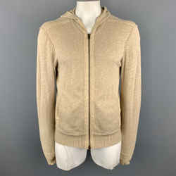 John Varvatos * U.s.a. Beige Cotton / Nylon Zip Up Size L Jacket