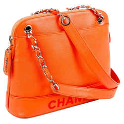 Chanel Caviar Leather With Silver Hardware Shoulder Bag