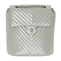 Chanel Metallic Chevron Quilted Urban Spirit Backpack