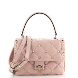 Candystud Top Handle Bag Leather Medium