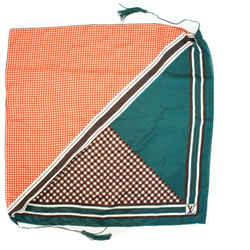 Louis Vuitton - Tassel Scarf - Orange Plaid - Green Brown Lv  Leather