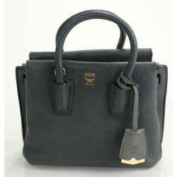 MCM Milla Mini Leather Tote Bag - Gray