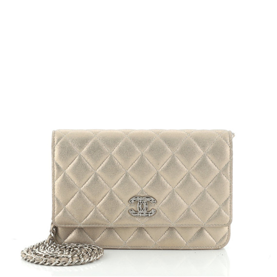 Paris-Salzburg Wallet on Chain Quilted Iridescent Calfskin