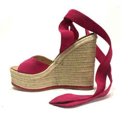 Paul Andrew Espadrilles Shoes Sz 8 Euro 38 New W/o Box Wedges Pink Wedge Sandals