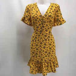 Michael Kors Yellow Short Sleeve Dress 8