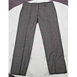 Piazza Sempione Brown Kim Wool Blend Trousers - Size 48