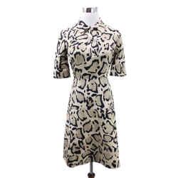 Gucci Tan and Black Animal Print Silk Dress Sz 36