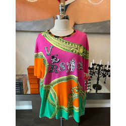 Versace Sz 2XL Neon Pink Text Grahic T-shirt 2676-55-2621