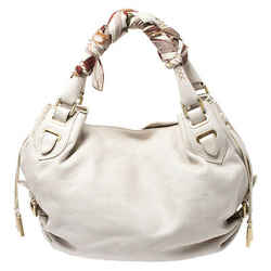 Bally White Leather Vivi Satchel