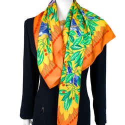 Les Merises Hermes Scarf by Antoine de Jacquelot 90 cm Silk Twill - Highly Sought After