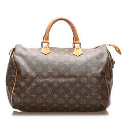 Brown Louis Vuitton Monogram Speedy 35 Bag