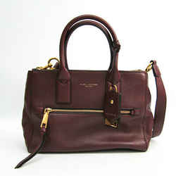 Marc Jacobs M0008899 Unisex Leather Handbag Bordeaux Bf512046