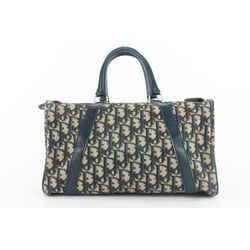 Dior Navy Blue Monogram Trotter Boston Duffle Bag 889da413