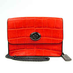 Coach Bowery Crossbody 57717 Women's Leather Shoulder Bag Orange BF518706