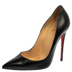 Christian Louboutin Black Leather So Kate Pumps Size 37