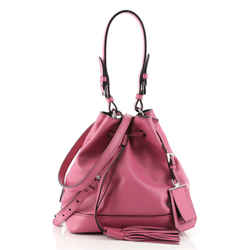 Convertible Drawstring Bucket Bag Soft Calf Small