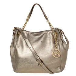MICHAEL Michael Kors Metallic Leather Chain Shoulder Bag