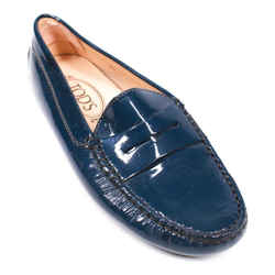 Tod's - Women's Gommino Penny Loafers - Blue Patent Leather Flat - Us 6.5 - 36.5